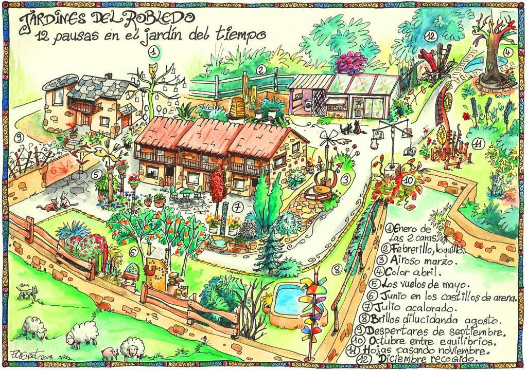 mapa jardin casa-rural